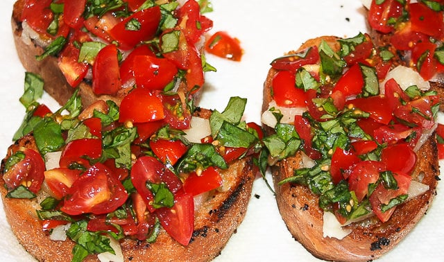 Bruschetta Recipes using leftover or stale bread