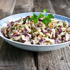 Better than KFC or any deli slaw this tangy-sweet dressing with a pop of celery seed is a delicious side dish.