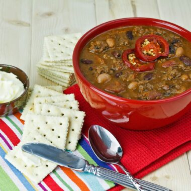 Hearty chili is a satisfying make-ahead meal.