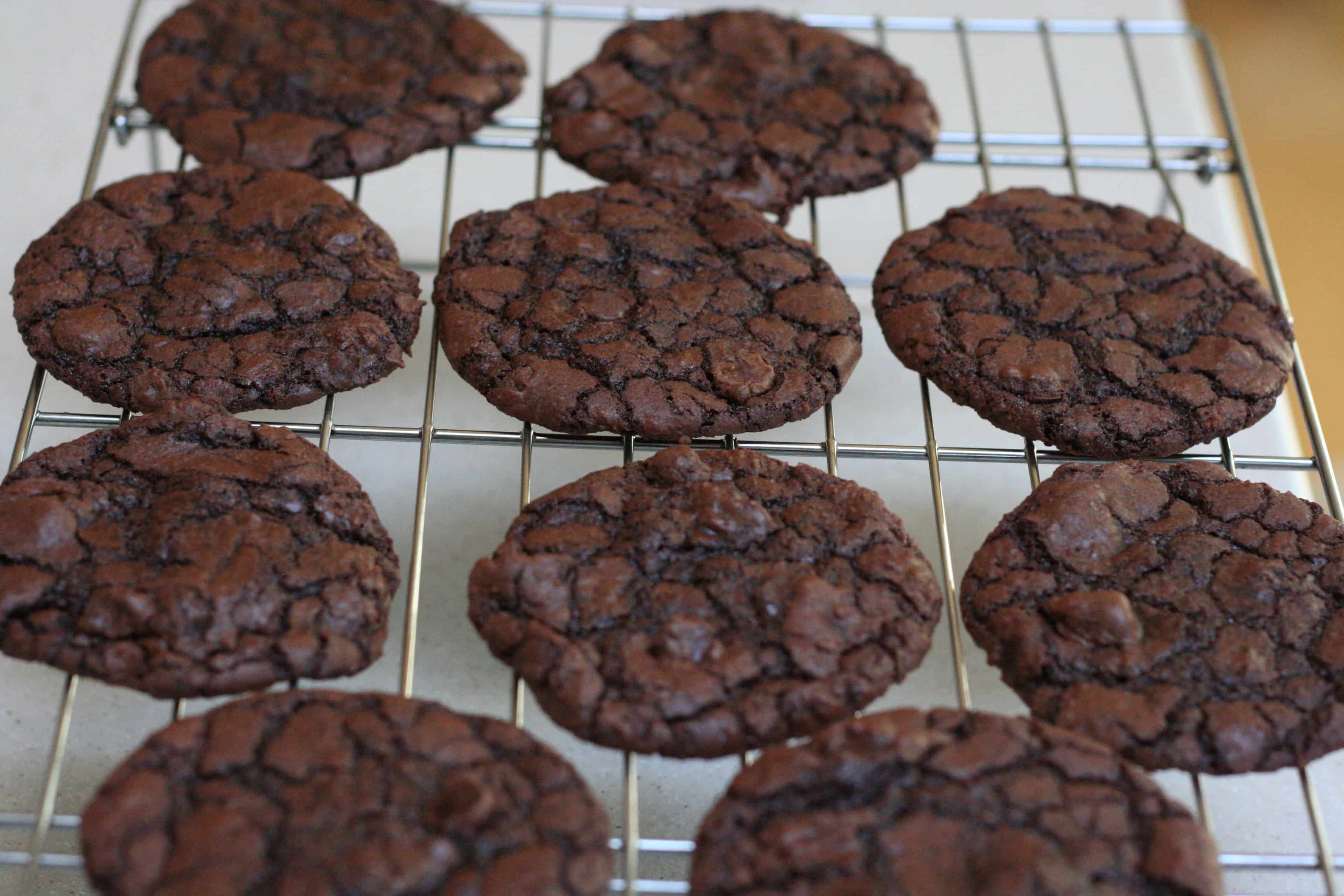 Ghirardelli Brownie Cookies Made From Brownie Mix