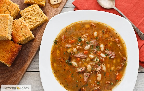Smoked Turkey and Bean Soup Recipe