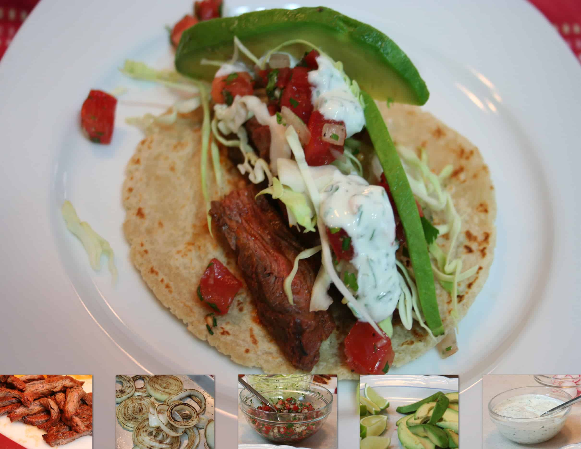 Chile-Spiced Skirt Steak Tacos