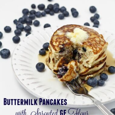 Gluten Free Sprouted Grain Buttermilk Pancakes are as delicious as they are good for you.