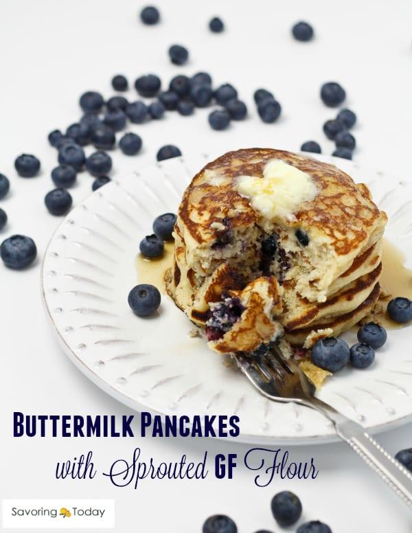 Buttermilk Pancakes Recipe [Gluten-Free]