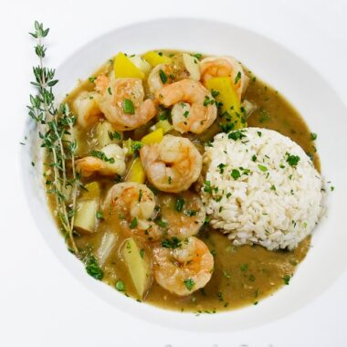 Emeril's Cajun Shrimp Stew is a wonderful one-pot meal made with Louisiana cooking traditions in mind.