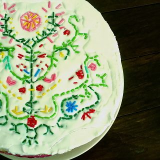 Embroidering a Cake with Sprinkles [via Clockwork Lemon]: Feature Fridays