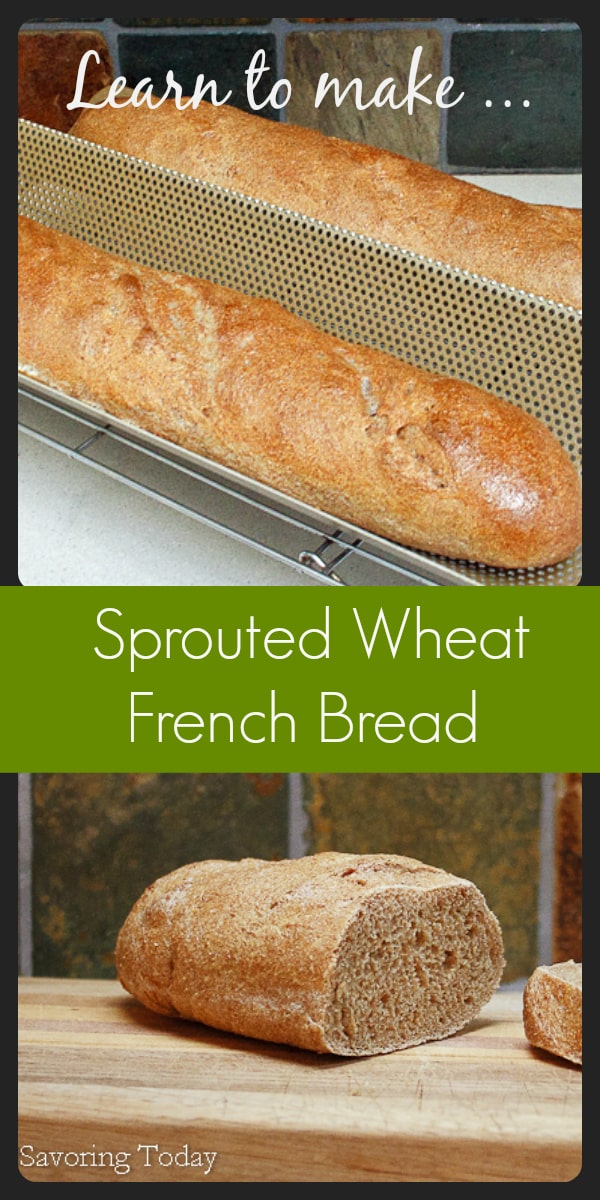 How to make healthy sprouted wheat bread at home.