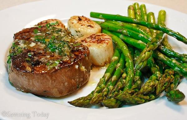 Scampi Style Steak Scallops Recipe Savoring Today Llc