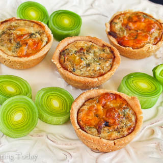 Bacon, Leek & Cheddar Mini Quiches: Test Kitchen Tuesday