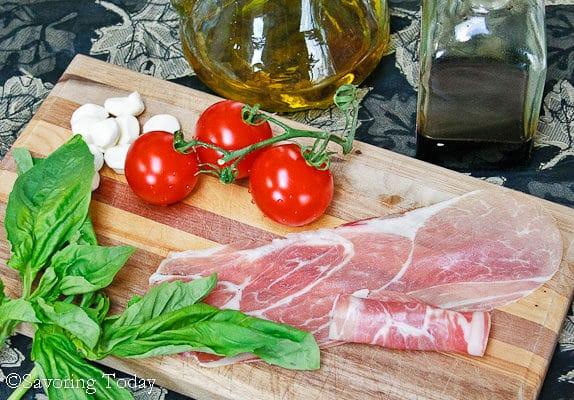 Prosciutto-Wrapped Caprese Salad on Board (1 of 1)