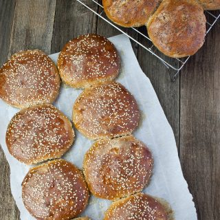 How to make delicious, healthy sprouted wheat buns.