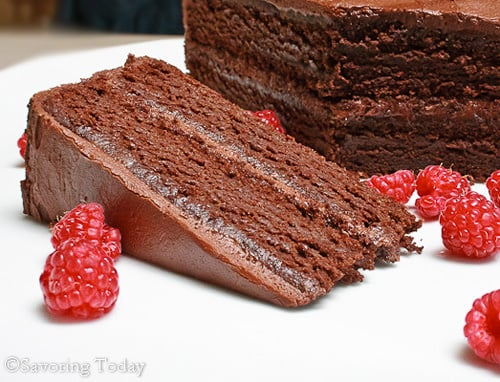 Chocolate Cake with Chocolate Buttercream Frosting [GF]