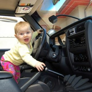 No matter how old they get, this is what a parent sees when their baby starts to drive. (Photo credit Todd Lappin, Telstar Logistics)