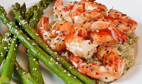 Grilled Thai Chili Sesame Shrimp with Asparagus is a quick weeknight meal everyone will love. Delicious, and done in under 30 minutes from scratch! 14 Go-To Grilling Recipes