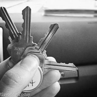 Keys to first apartment