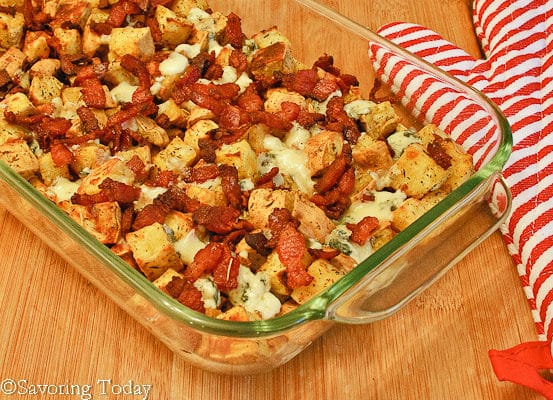 Savory Sweet Potatoes fresh from the oven.