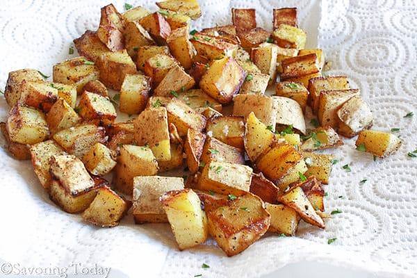 Sweet Potato Home Fries are a savory breakfast treat and easy to make ahead too.