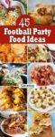 45 Football Party Food Ideas collage