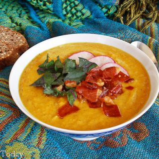 Curry-Spiced Roasted Butternut Squash & Curry-Spiced Butternut Squash Soup
