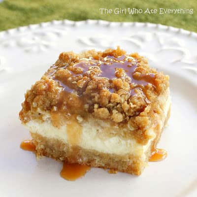 Caramel Apple Cheesecake Bars by The Girl Who Ate Everything