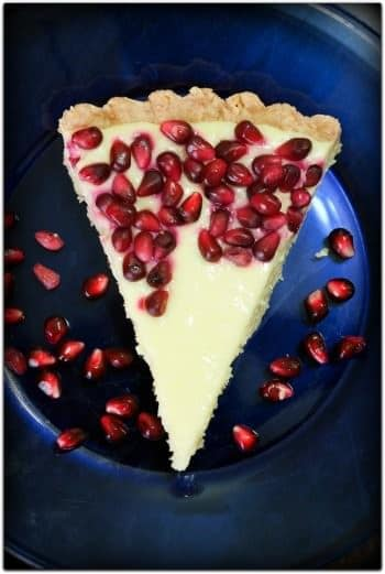 Pomegranate Meyer Lemon Tart by Big Fat Baker