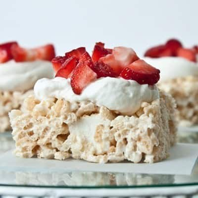 Strawberry Shortcake Rice Crispy Treats by Sweet Treats & More