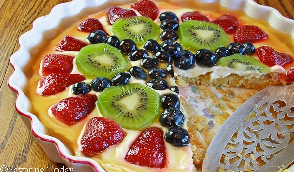 Cream Cheese Fruit Tart with Almond Crust Recipe [GF]: A Series on Hospitality
