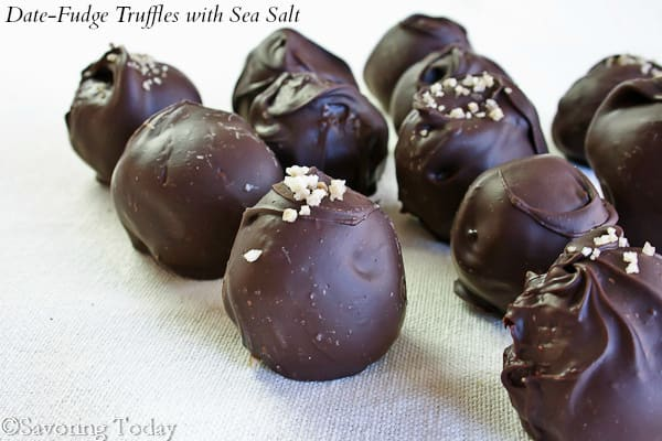 Date-Fudge Truffles with Sea Salt | Savoring Today