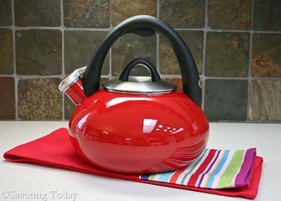New Red Tea Pot