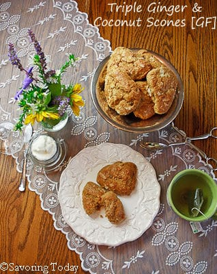 Triple Ginger Coconut Scones   Savoring Today