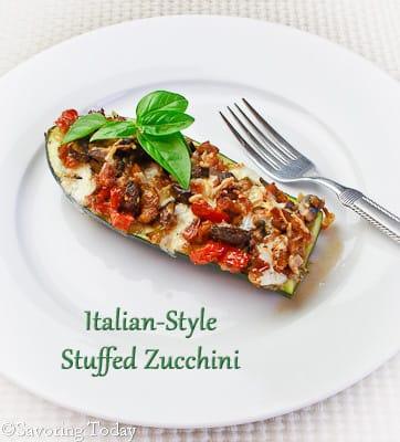 Italian-Style Stuffed Zucchini   Savoring Today