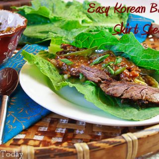 Easy Korean Barbecued Skirt Steak