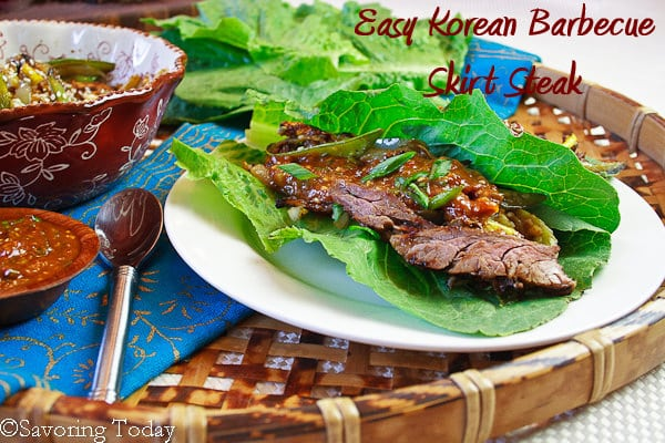 Korean Barbecue Skirt Steak [served] | Savoring Today