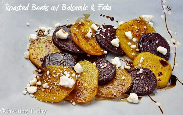 Roasted Beets with Balsamic & Feta | Savoring Today