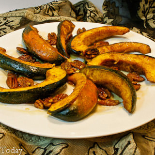 Curry Roasted Acorn Squash & Pecans