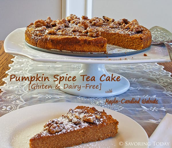 Pumpkin Tea Cake with Maple-Candied Walnuts [gluten, grain, & dairy ...