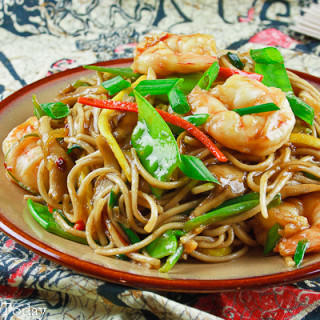 Shrimp Lo Mein [with Gluten-Free Options]