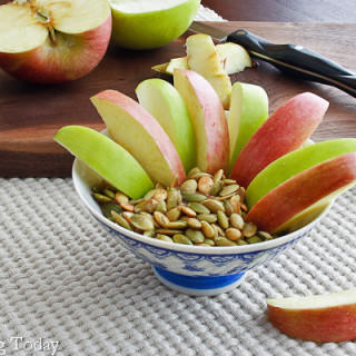 Cinnamon-Spiced Almond Butter Dip + 40 Healthy Snack Recipes