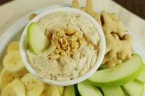 Peanut Butter Greek Yogurt Dip_top view
