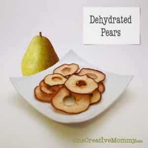 Dehydrate Pears