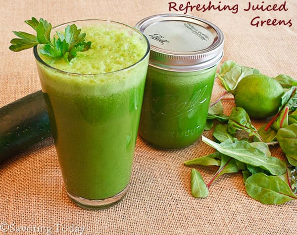 Spring Green Juice - two servings (1 of 1) copy