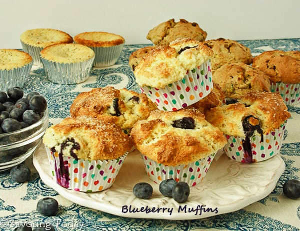 Classic Blueberry Muffins | Savoring Today
