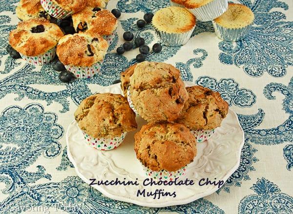 Zucchini Chocolate Chip Muffins | Savoring Today