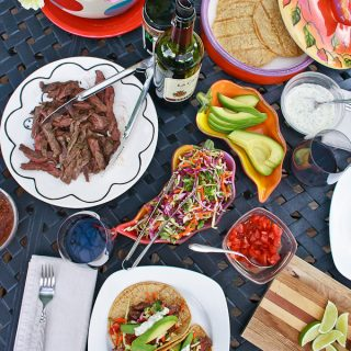 Take tacos to a whole new place with grilled skirt steak. Easy enough for family dinners and festive for entertaining.