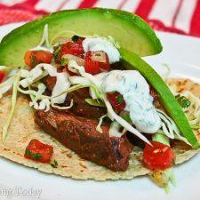 skirt steak tacos with habanero sauce