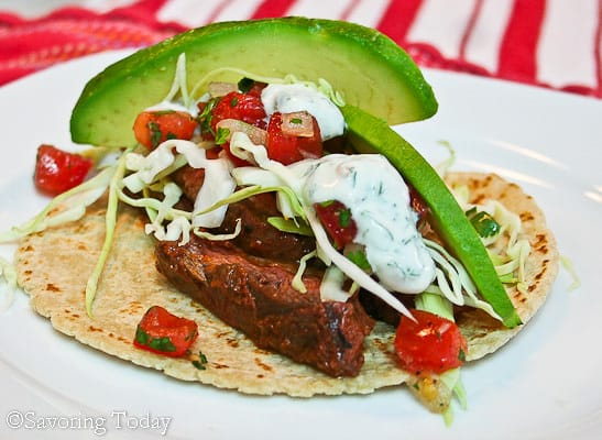 Chile-Lime Skirt Steak Tacos |Savoring Today