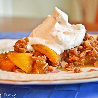 Grilled Peach & Vanilla Bean Crisp