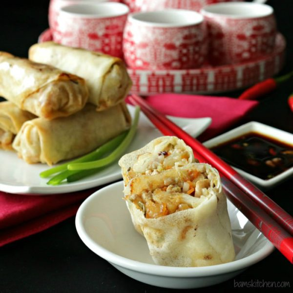 15 super bowl Baked-Chinese-Spring-Rolls-Bam's Kitchen