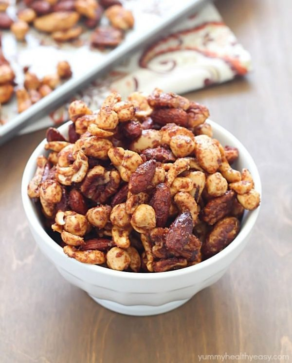 15 super bowl healthy-spiced-mixed-nuts -- Yummy Healthy Easy