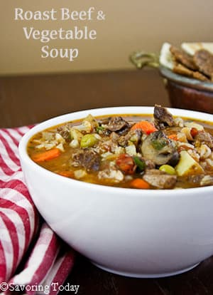 how to cook roast for vegetable soup